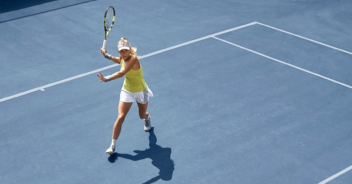Caroline Wozniacki in the Adidas Tennis Collection for Australian Open 2018