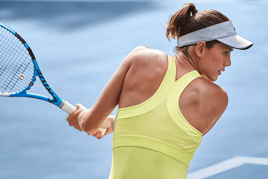 Garbine Muguruza in the Adidas Stella McCartney Collection for Australian Open 2018