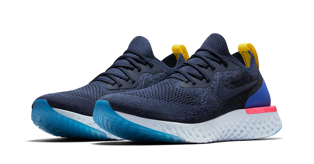 Blue Nike Epic React Flyknit
